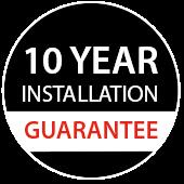 10 year installation guarantee