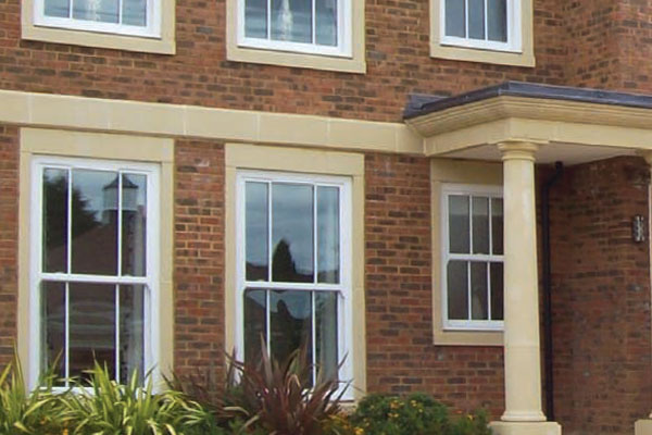 PVCu vertical sliding sash windows