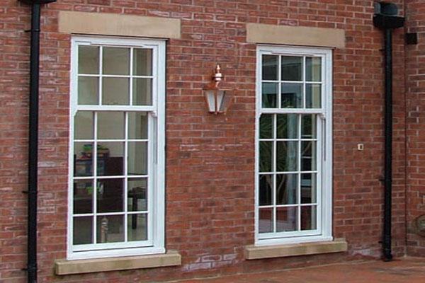 PVCu vertical siding sash windows