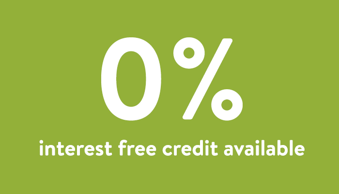 Interest FREE credit available subject to status