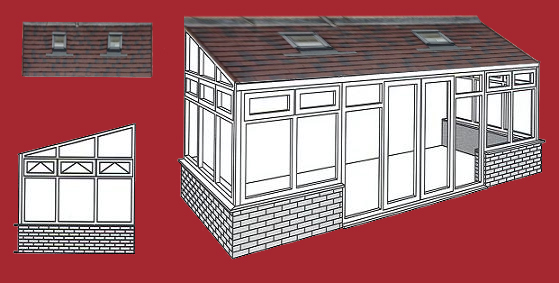 lean to conservatory, solid roof conservatory