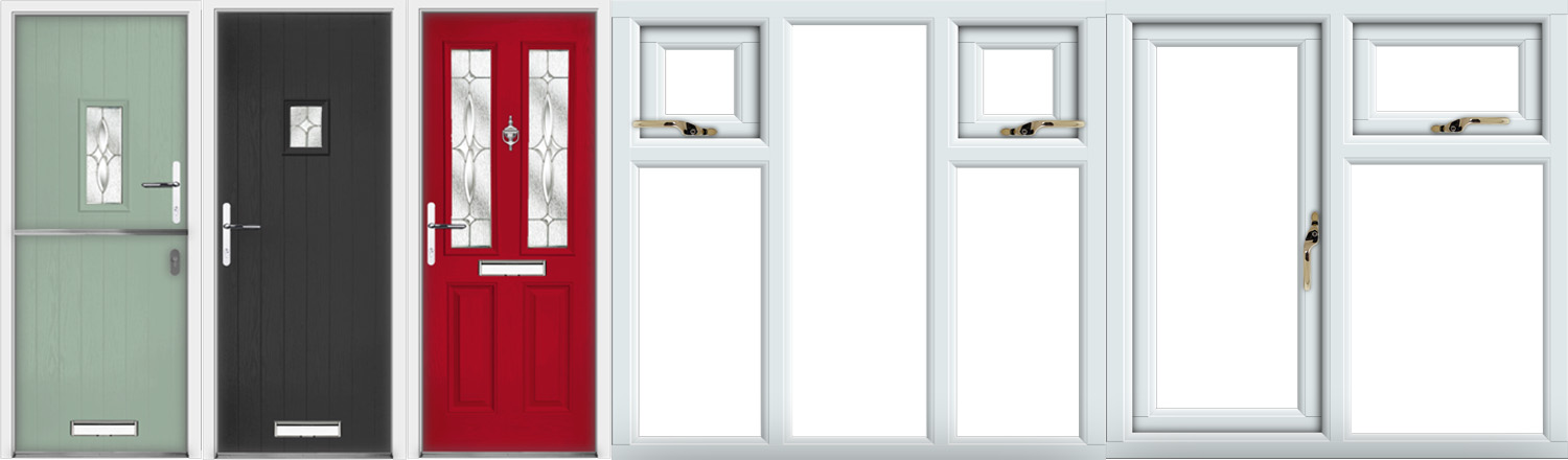 Upvc stable composite front and back doors for Double back doors