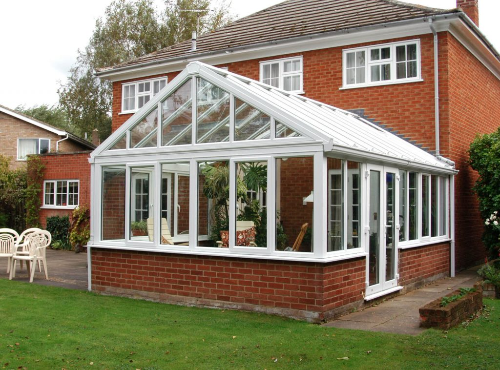 Gable conservatory upvc