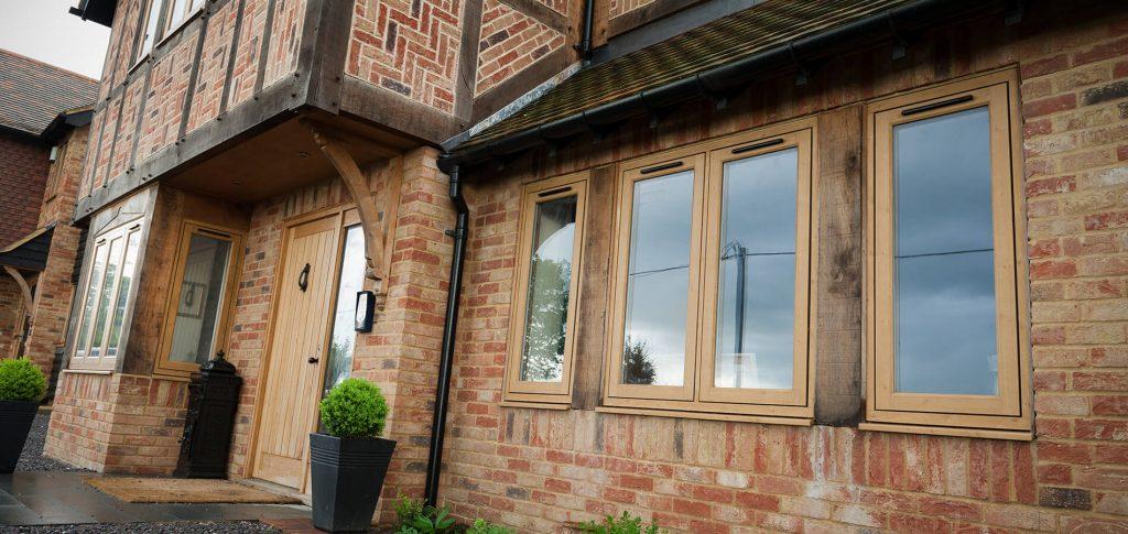 Oak-effect Residence 9 window