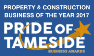 Pride of Tameside award 2017 Property & Construction Business of the Year
