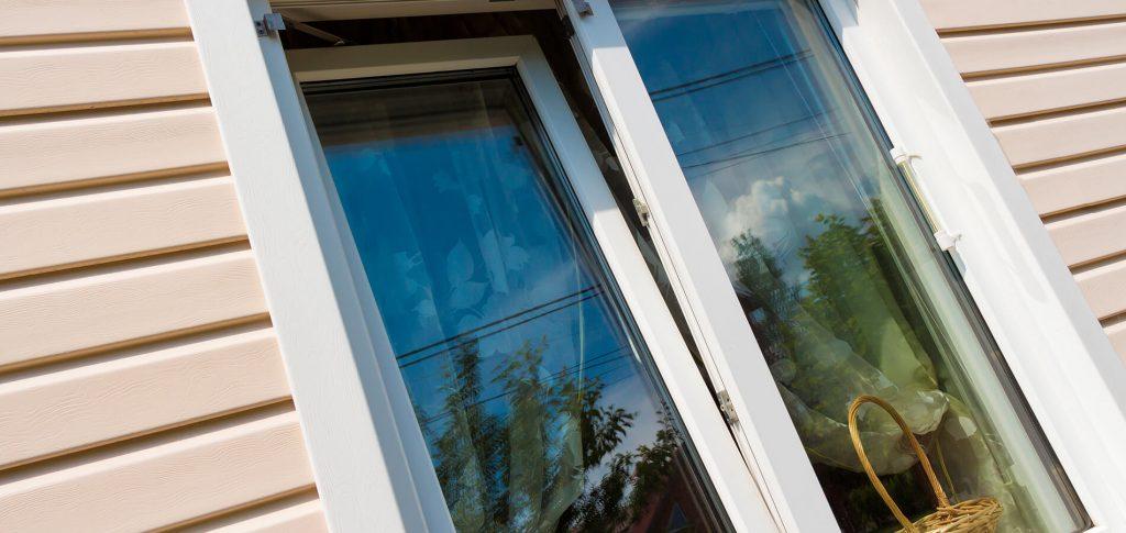 uPVC Tilt & Turn windows close-up