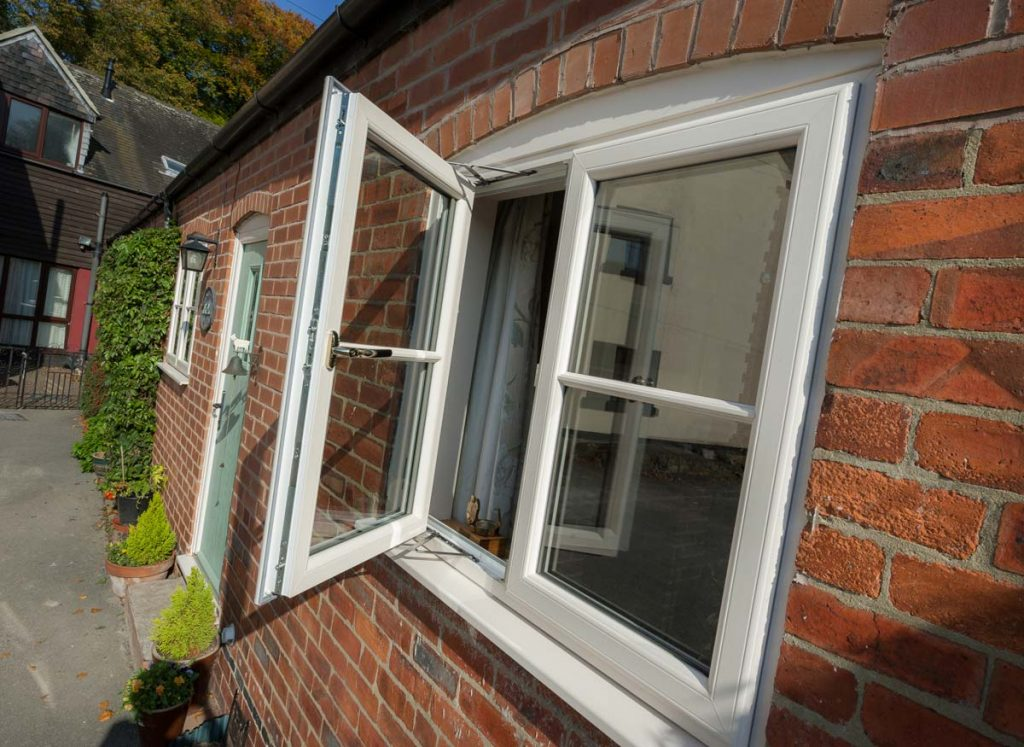 New white uPVC windows for converted property