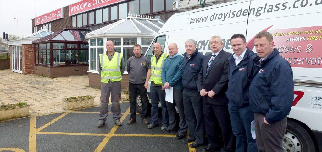 Droyslden glass team