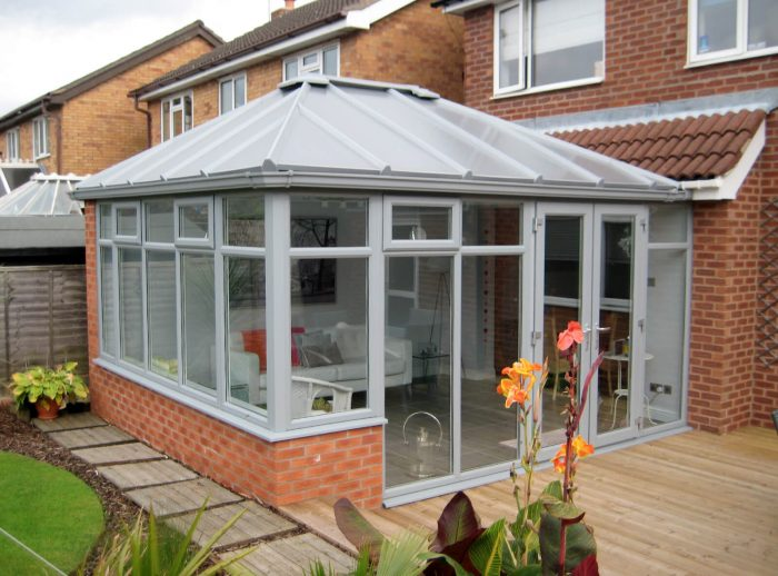 Grey uPVC Edwardian conservatory