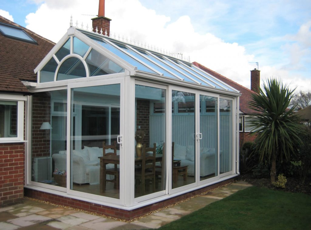 Modern gable-end conservatory