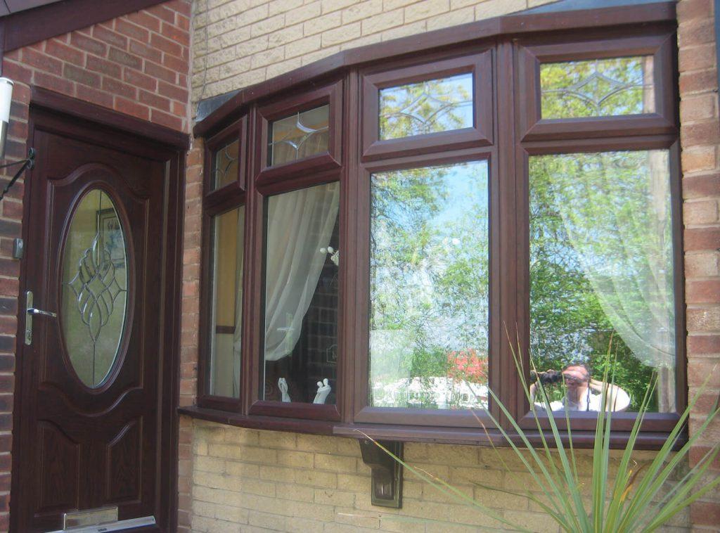 Rosewood bow window