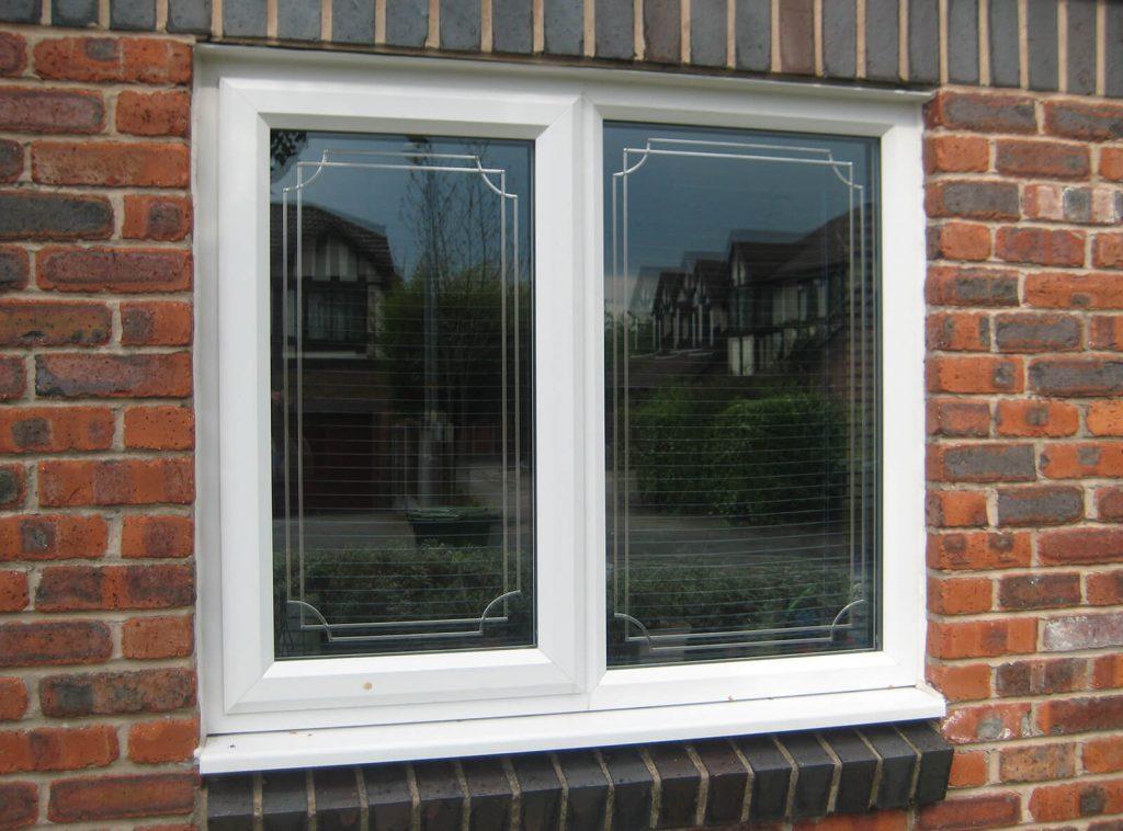 White casement window in uPVC