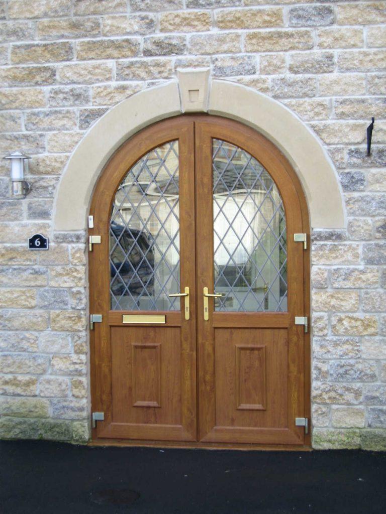upvc arched wood door