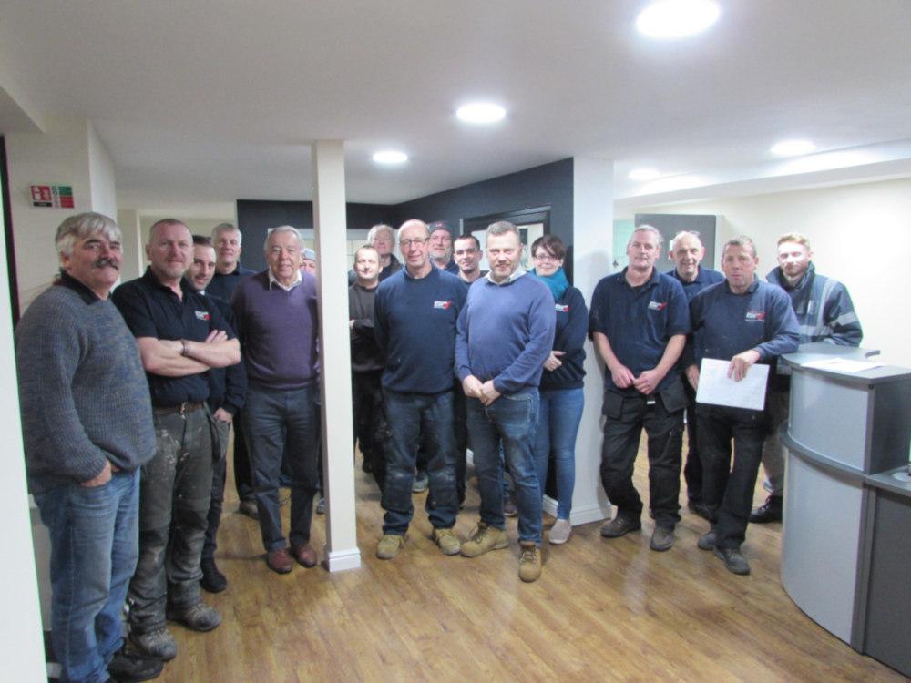 Colin and the Droylsden Glass team