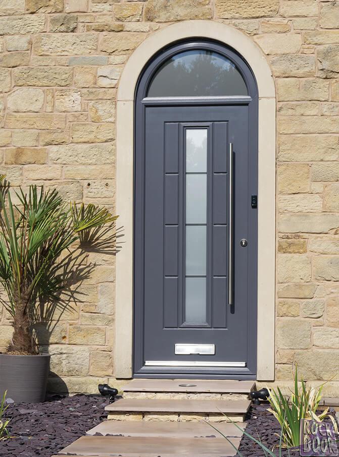 rockdoor anthracite grey composite entrance door