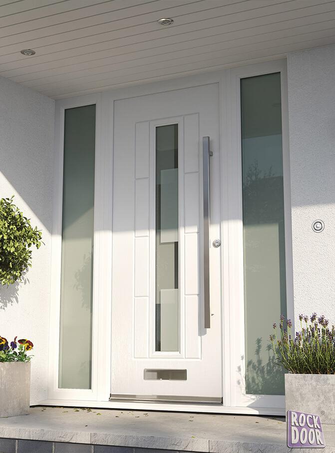 rockdoor white composite entrance door