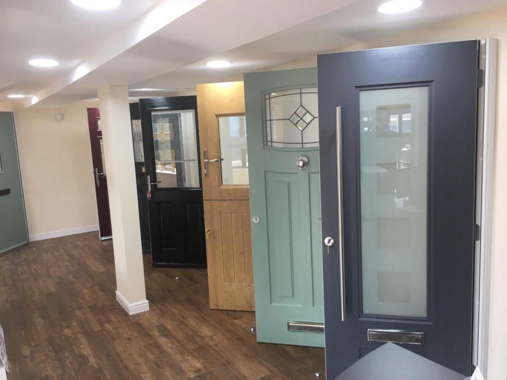 Composite doors at the Droylsden Glass showroom