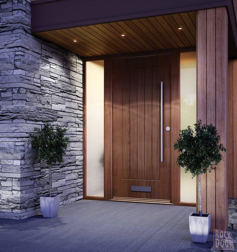 modern oak composite door