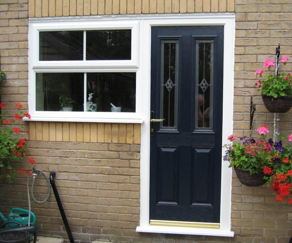 Composite back door and window