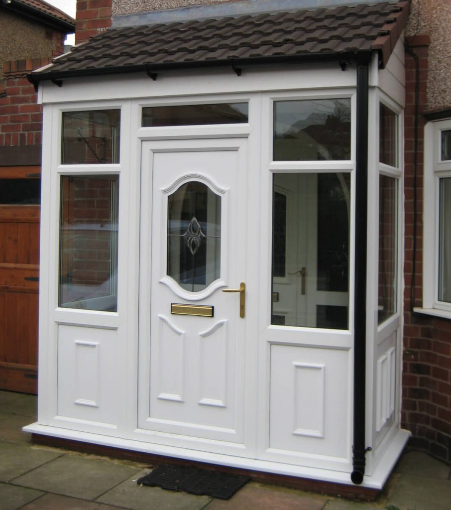 uPVC porch and entrance door