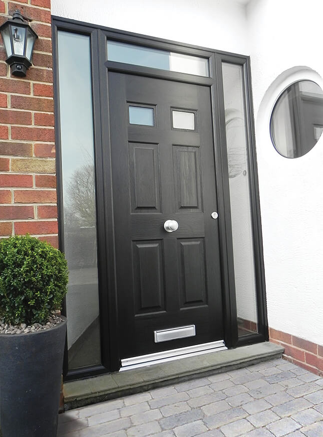 black rockdoor composite entrance door