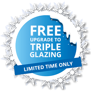 free upgrade to triple glazing