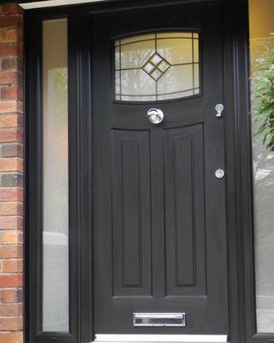 black modern composite door