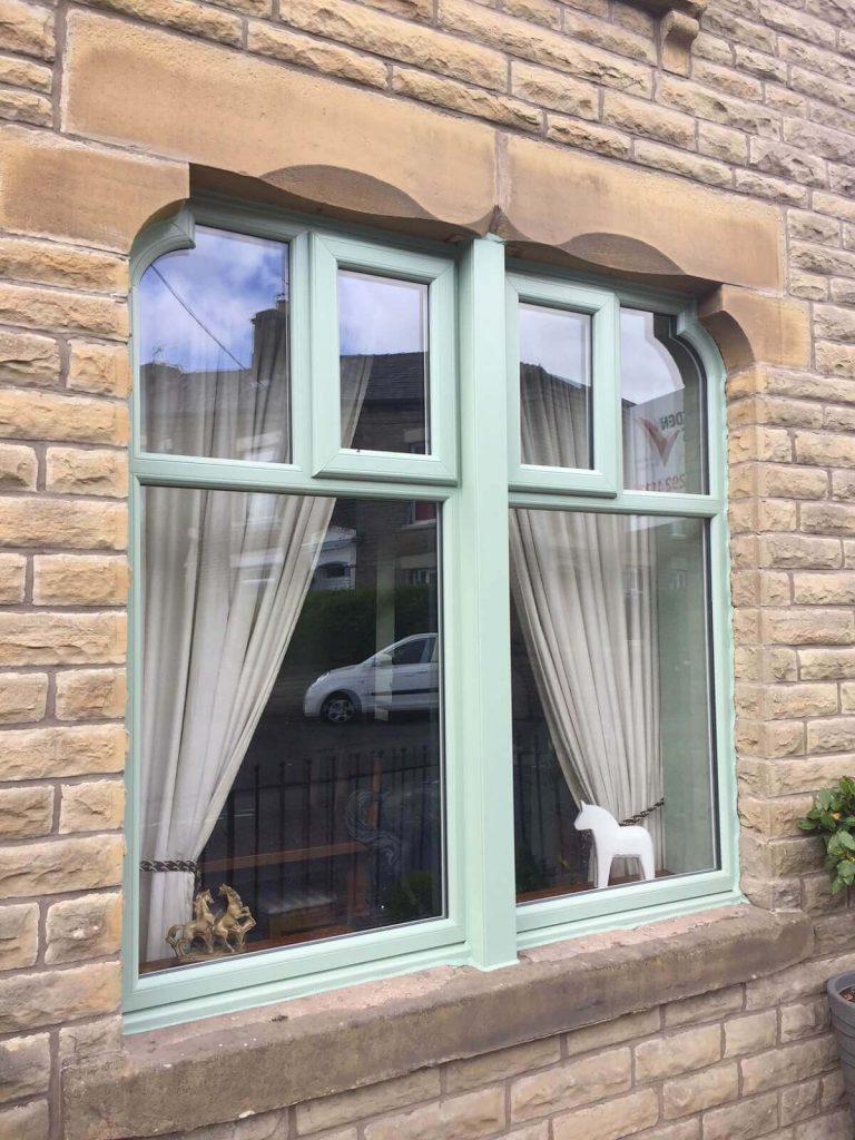 Chartwell green bespoke uPVC window