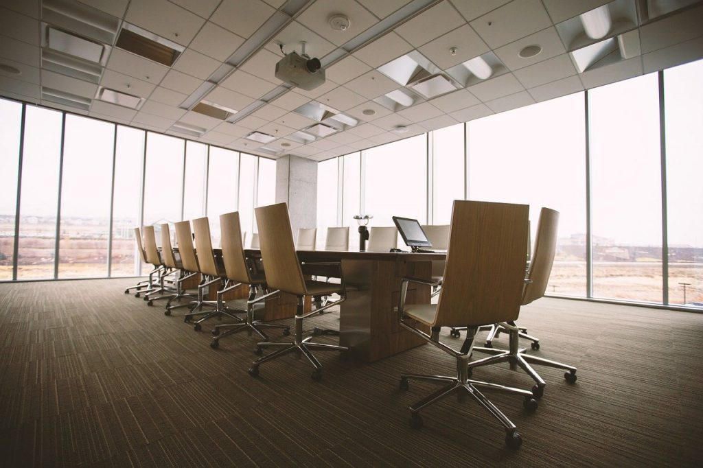 Conference room in an office
